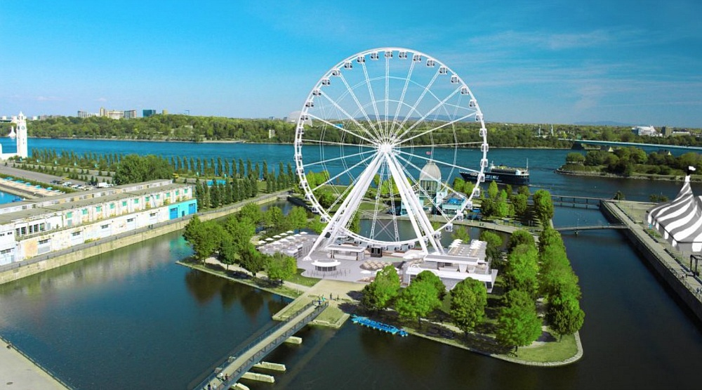 Canada's largest Ferris Wheel is scheduled to open this July in Old Montreal