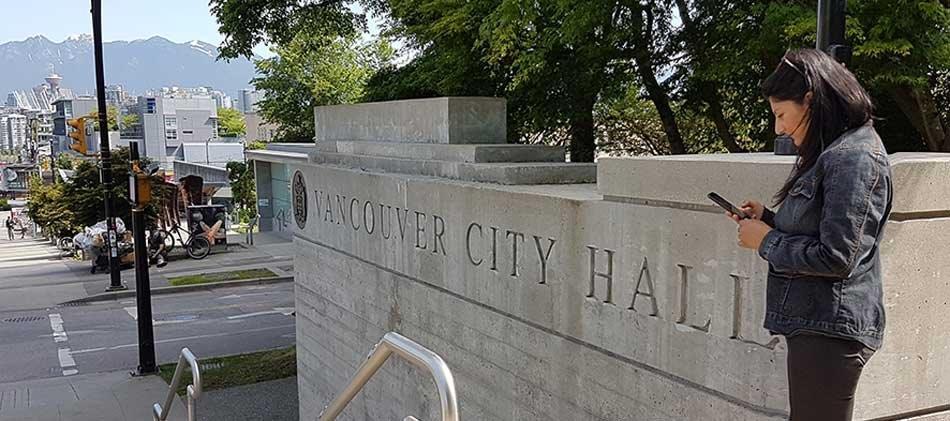 City hall sign vanconnect 1
