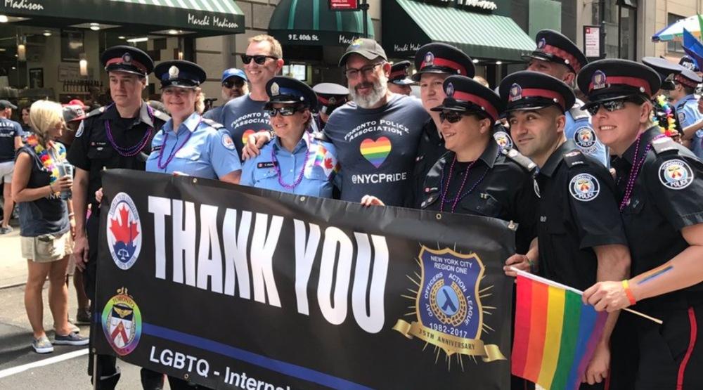Toronto Police march in uniform at New York Pride Parade (PHOTOS)