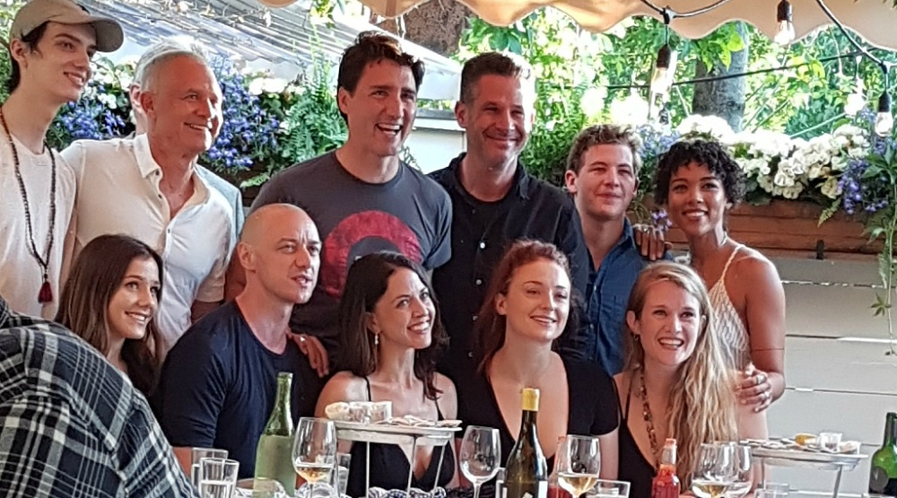 Justin Trudeau spotted at Liverpool House with X-Men and Sansa Stark