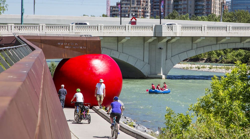 There's a giant red ball taking over downtown Calgary this week (PHOTOS)