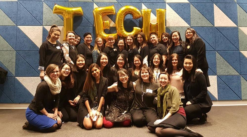 Women in tech volunteers