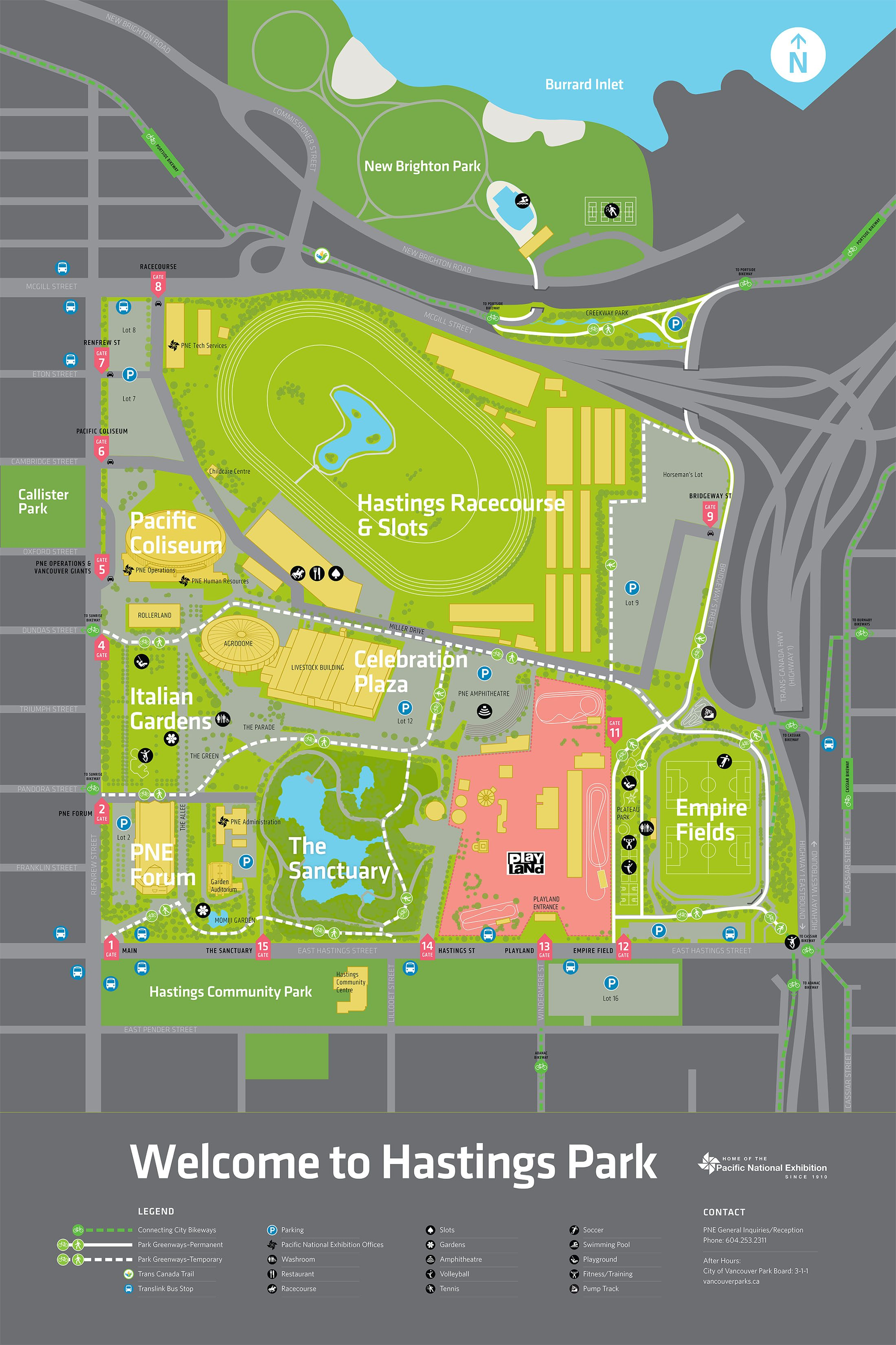 Hastings Park map in Vancouver (City of Vancouver)