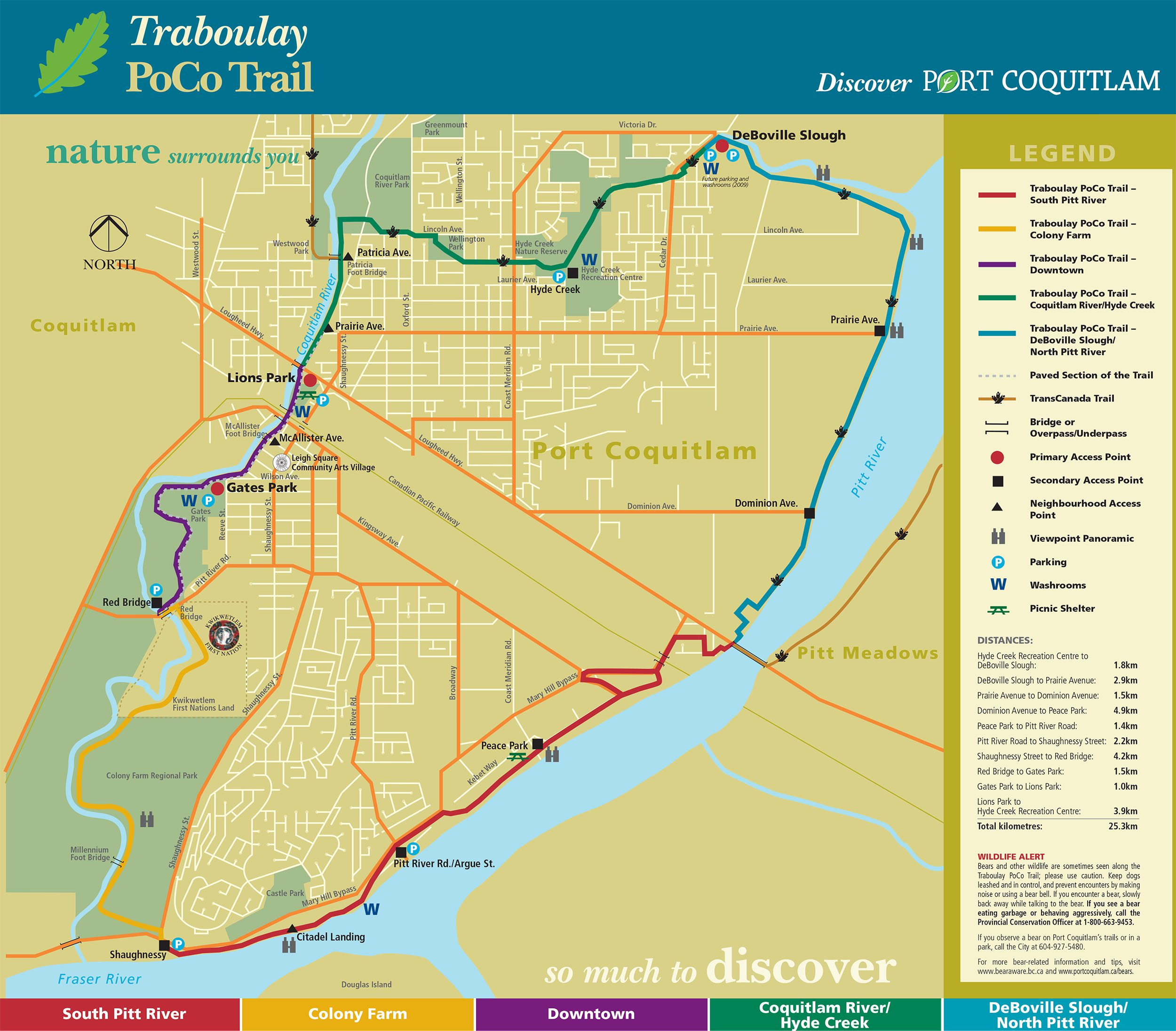 Traboulay PoCo Trail Map (City of Port Coquitlam)