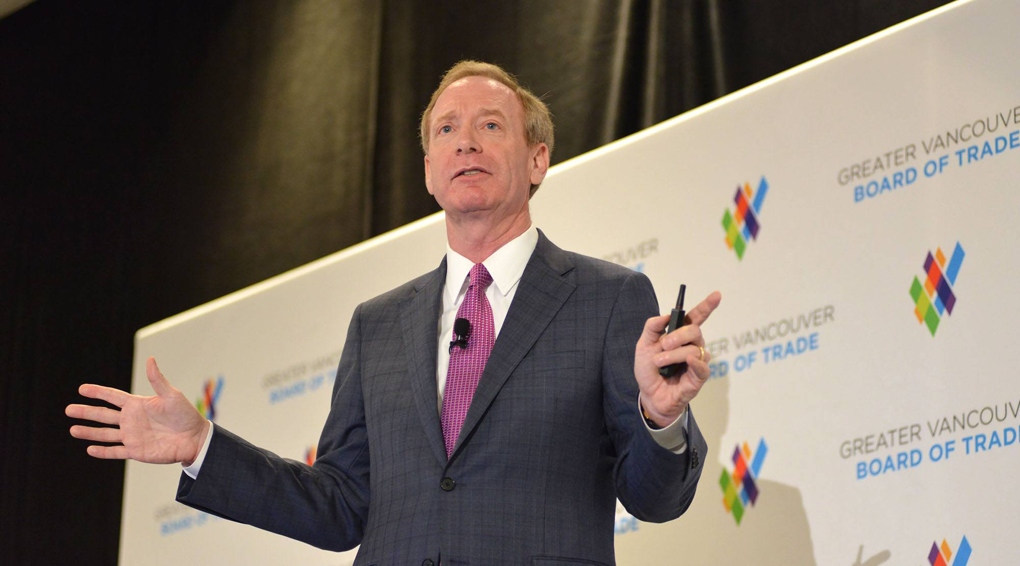 Microsoft President Brad Smith in Vancouver on June 28, 2017 (Greater Vancouver Board of Trade)