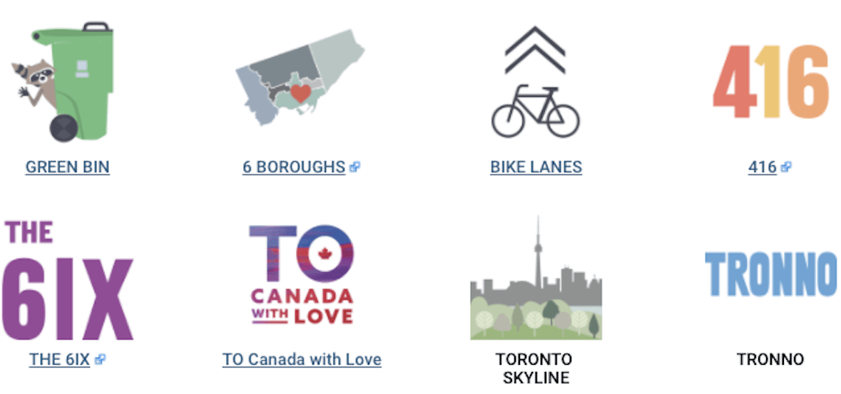 The City just launched a Toronto-themed electronic sticker pack