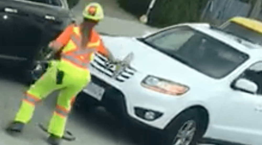 Driver charged following Burnaby flagger hit-and-run
