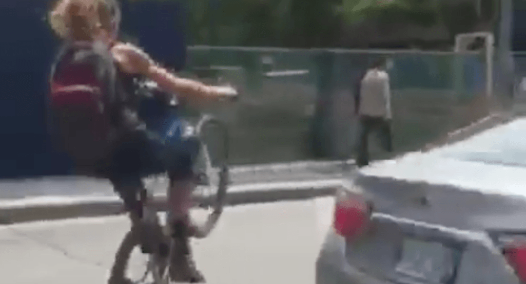 Toronto police charge wheelie-stunt cyclist with careless driving