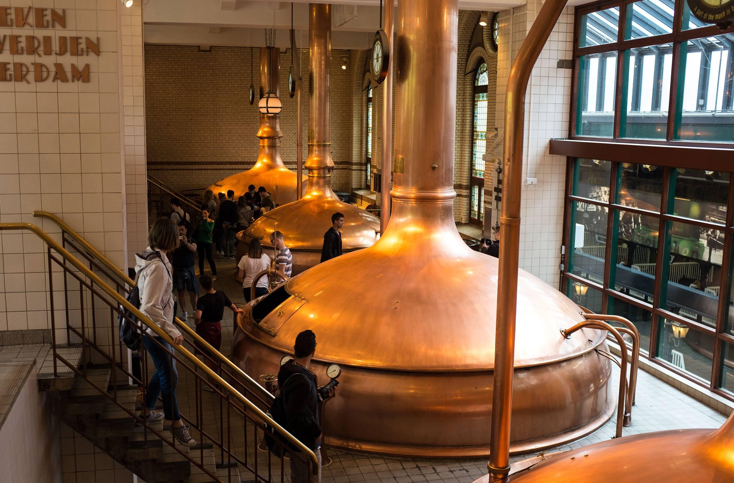 The old Heineken brewery at the Heineken Experience in Amsterdam (Jenni Sheppard)
