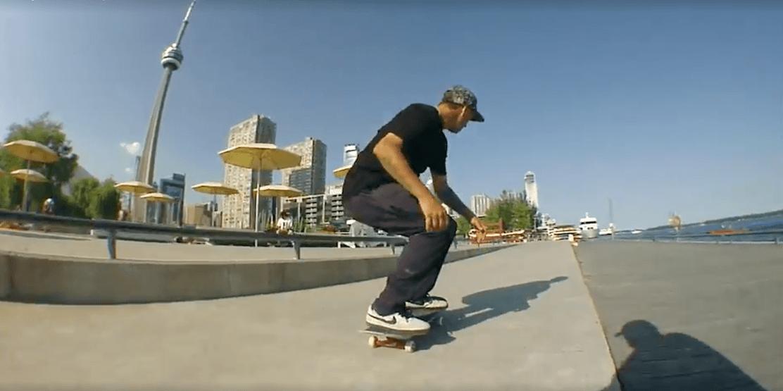 Watch Toronto skater TJ Rogers skateboard around the city's landmarks
