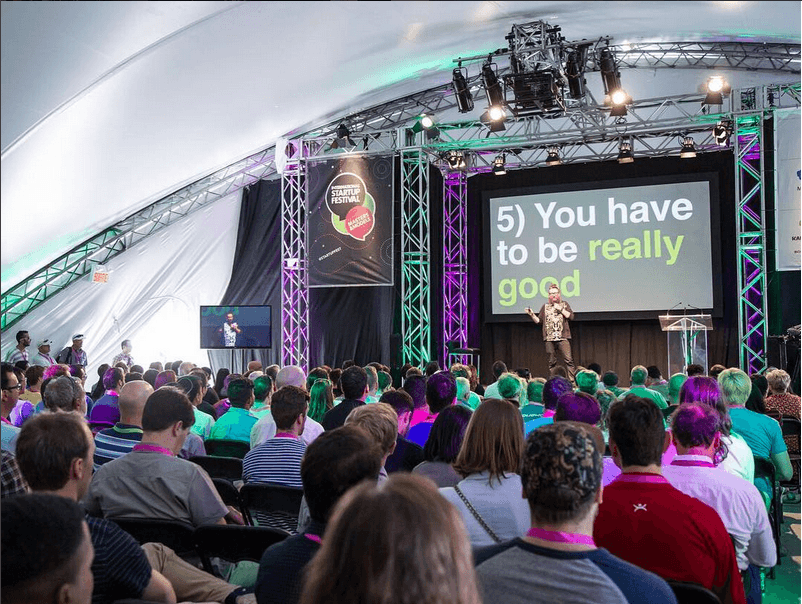 A free startup festival is happening in Old Montreal