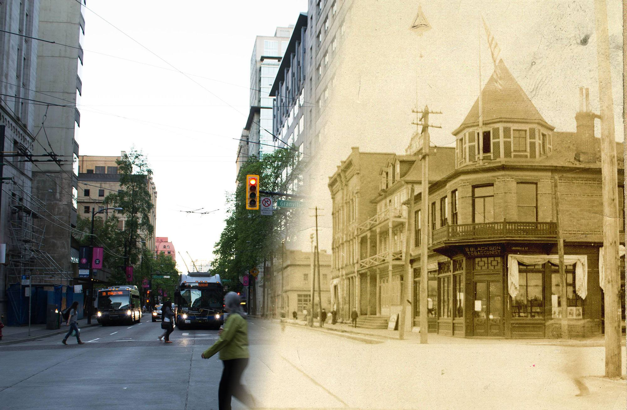 Hastings Street in the 1890s (Vancouver Archives/On This Spot)