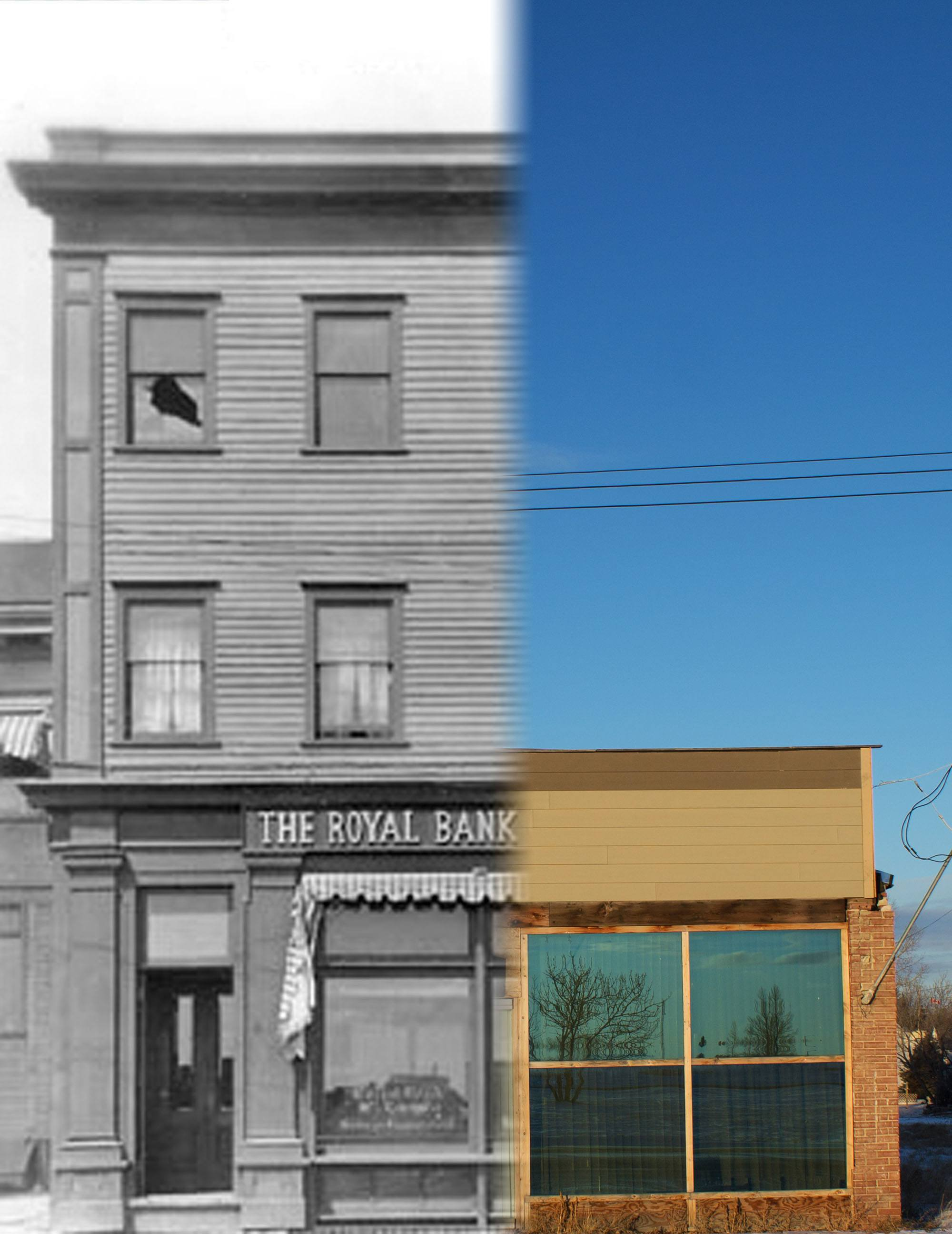 The Royal Bank of Canada in Gleichen in 1910 (Glenbow Museum and Archives/On This Spot)