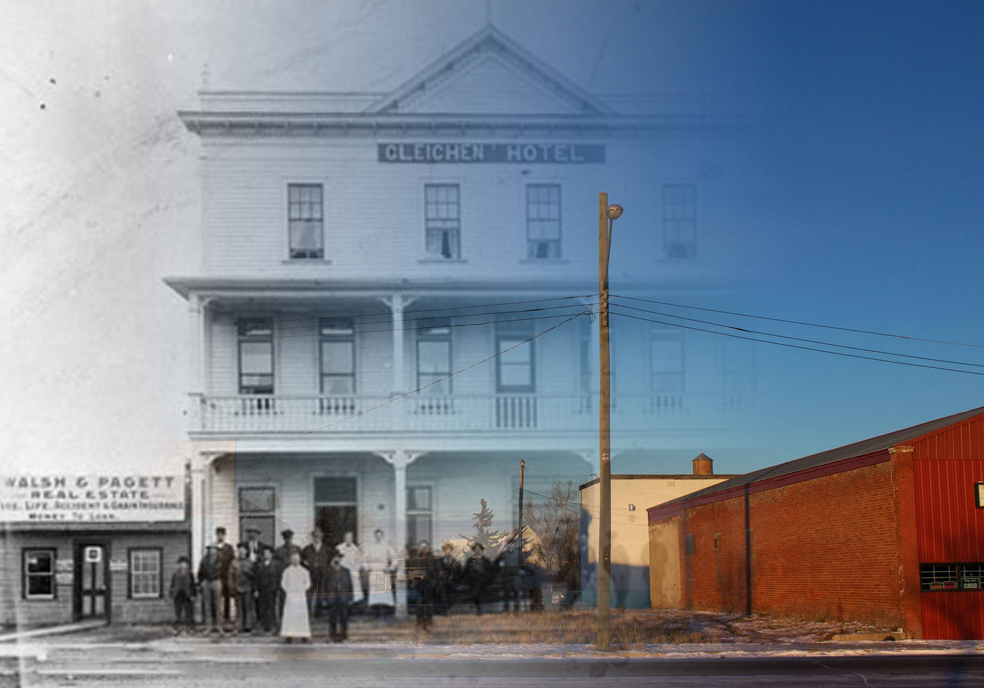 The Gleichen Hotel in 1910 (Glenbow Museum and Archives/On This Spot)