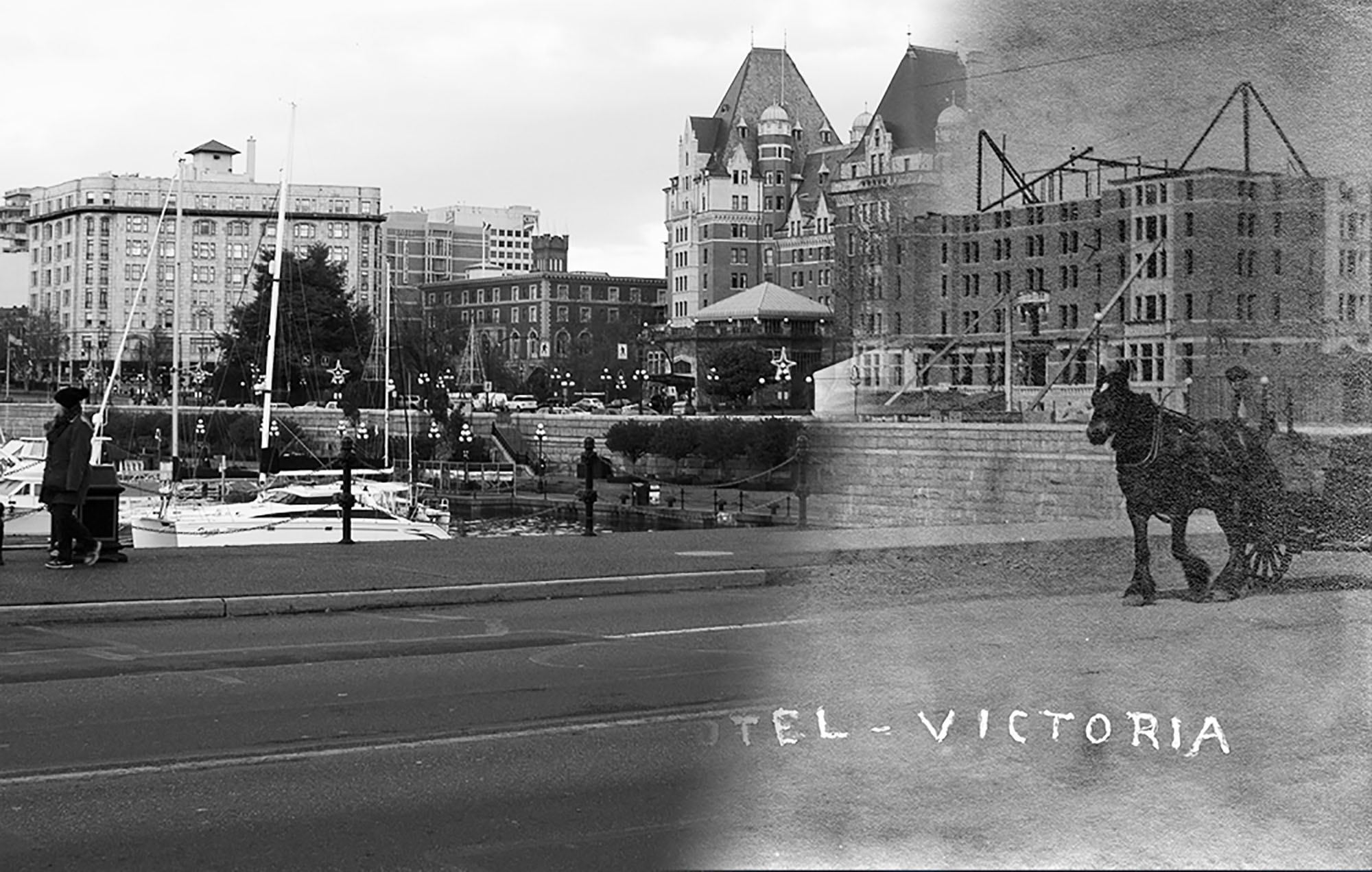 The Empress, Victoria's best known landmark, under construction in 1903 (Vancouver Archives/On This Spot)