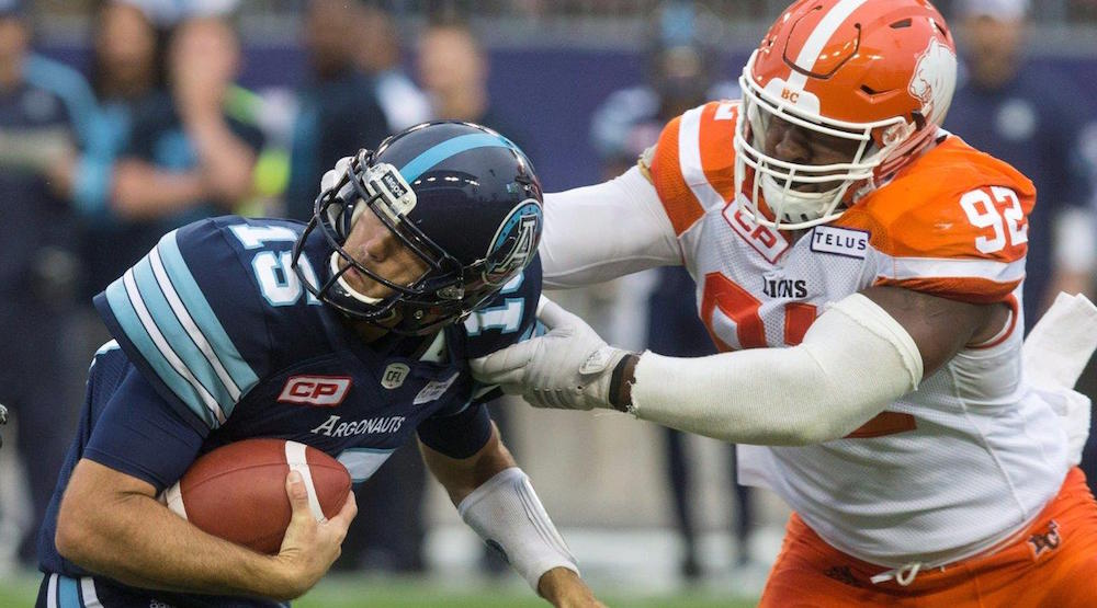 Lions defence shuts down Argos in 1st win of season