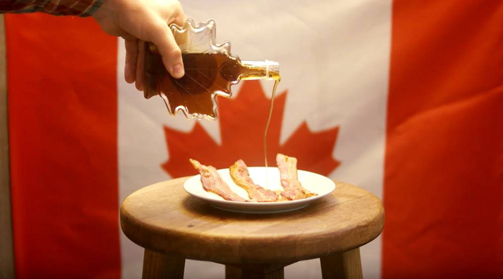 How to be a canadian maple syrup bacon