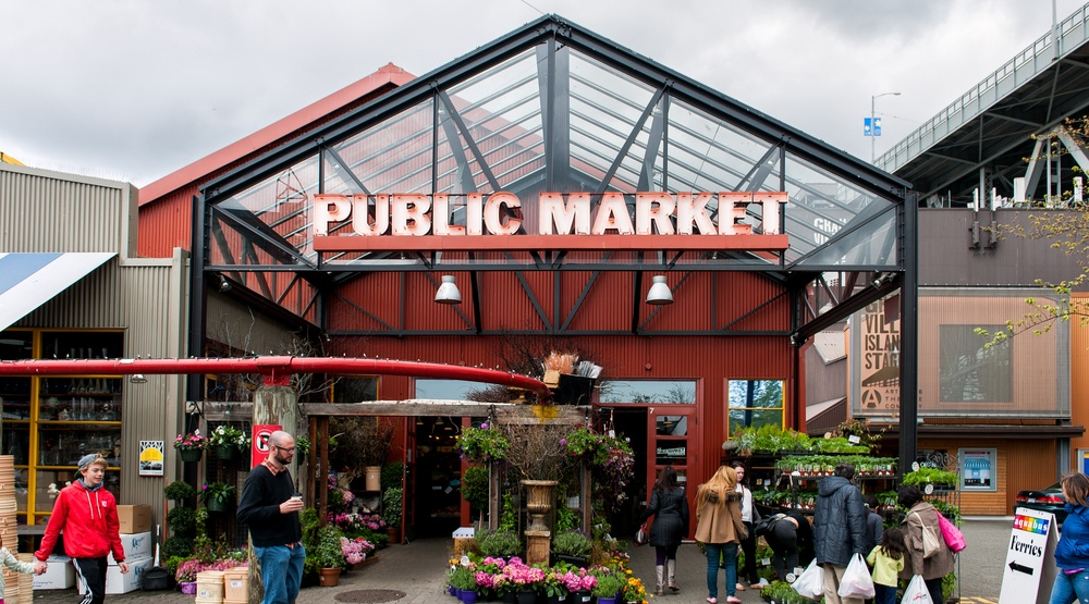 Granville Island Public Market on May 10, 2014 in Vancouver, Canada (Julien Hautcoeur/Shutterstock)
