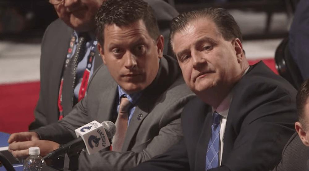 Watch: Canucks GM Benning nearly trades 1st round pick at draft (VIDEO)