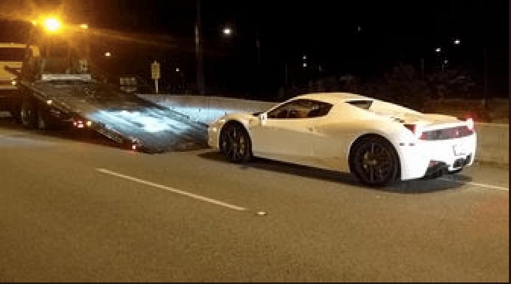Impound extended for Ferrari caught doing 210 km/hr across Lions Gate Bridge