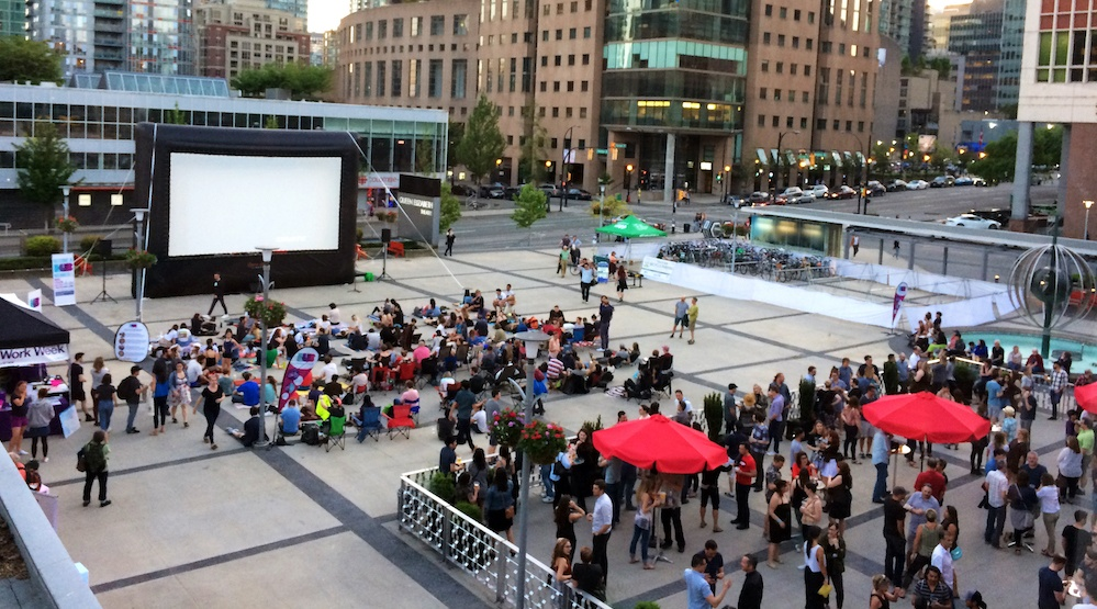Movie night plaza