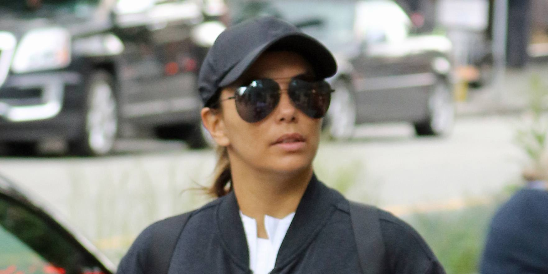 Eva Longoria spotted shopping in Vancouver