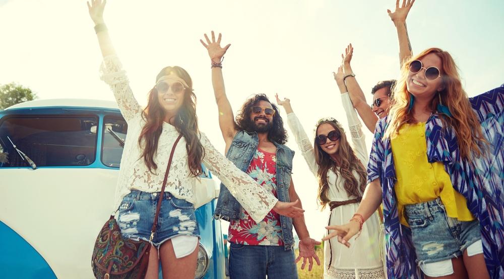 Millennial hippies (Shutterstock)