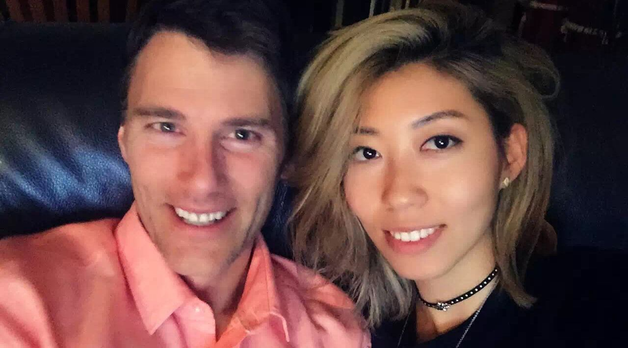 Vancouver mayor gregor robertson and singer songwriter wanting qu in happier times wanting qu