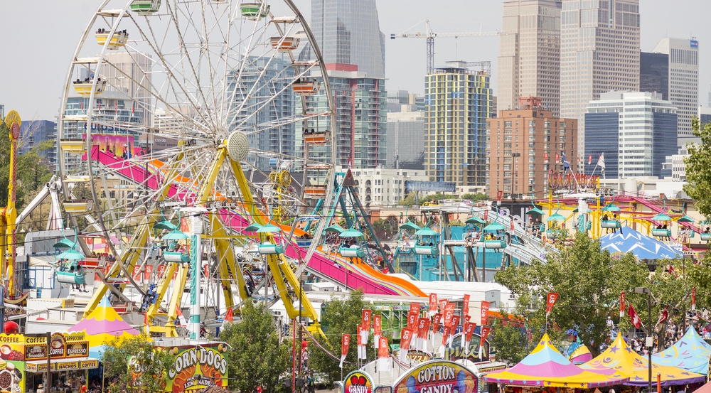 Calgary stampede midway shutterstock