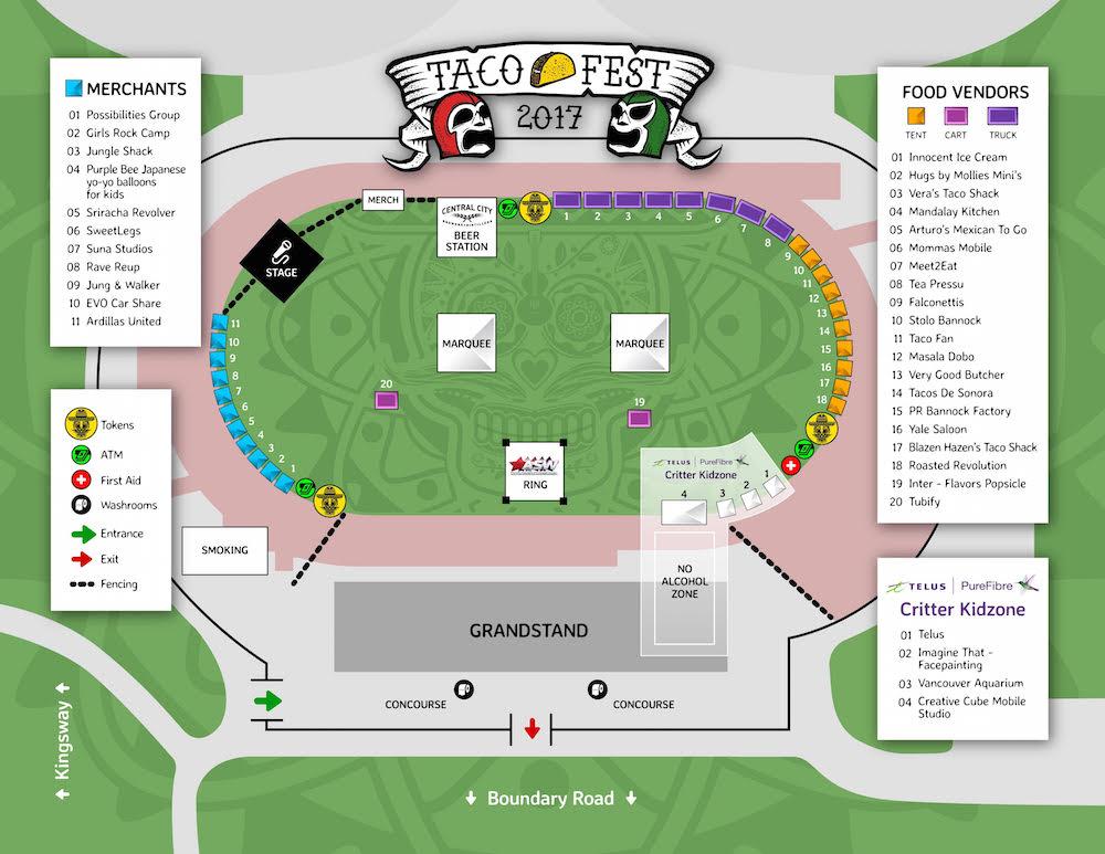 Taco Fest Vancouver 2017 map