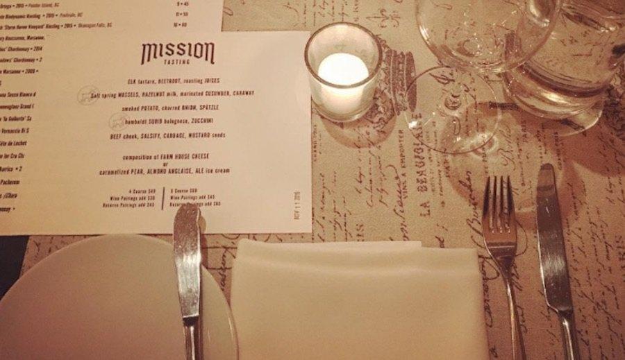 Mission kits table