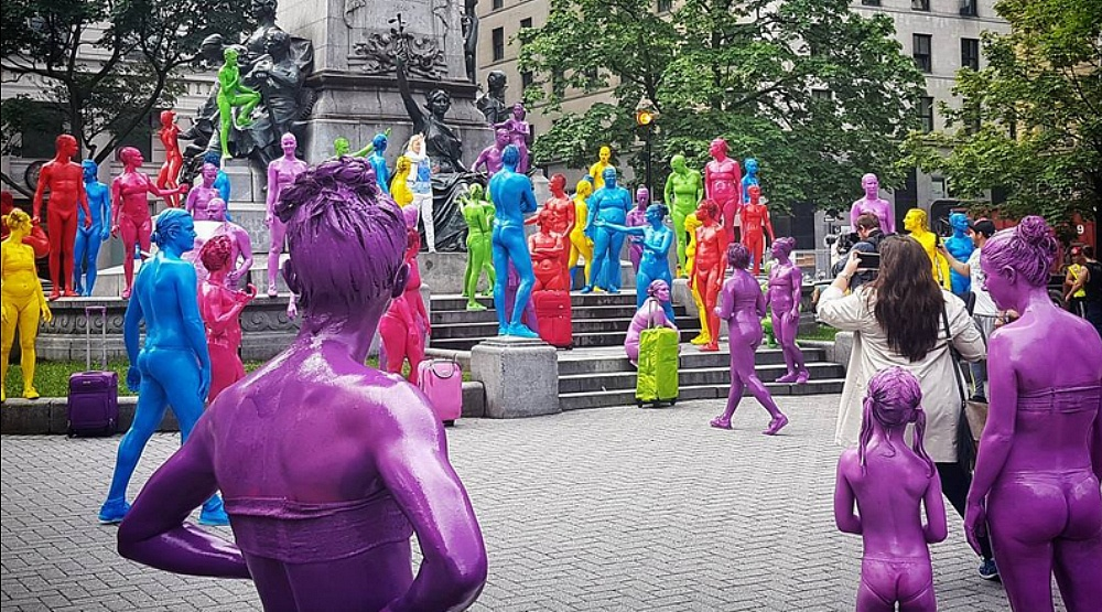 Rainbow coloured people have been spotted wandering around Montreal