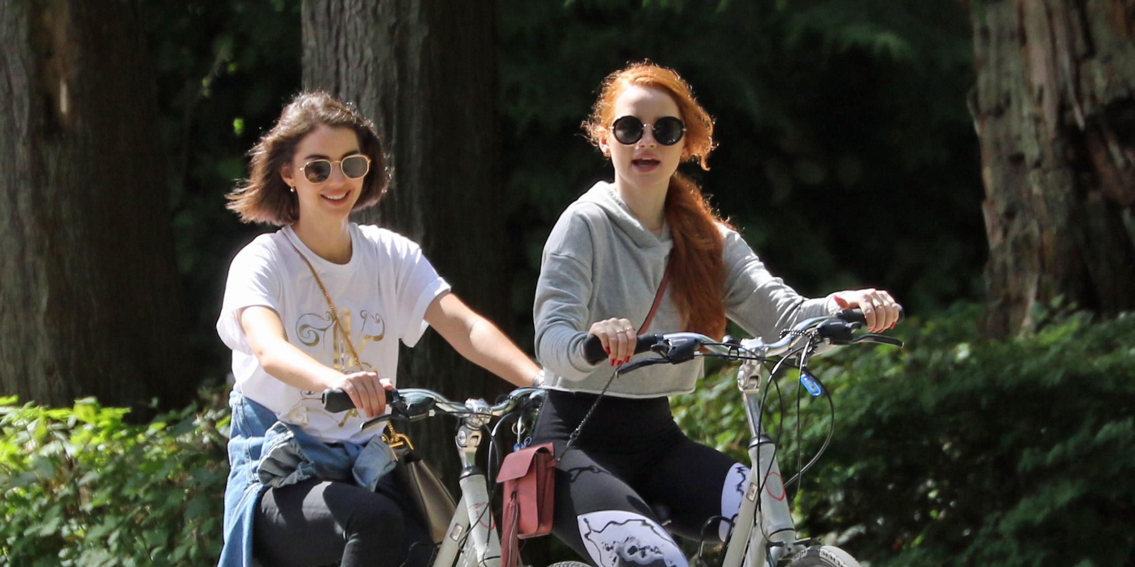 Madelaine Petsch and Adelaide Kane go for a bike ride in Vancouver (PHOTOS)
