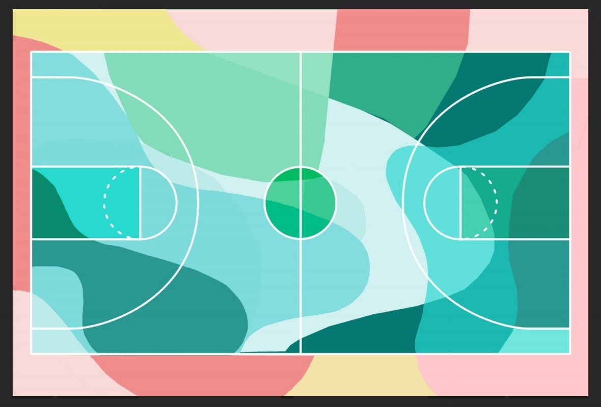 Design On The Basketball Court visio 2013 for mac
