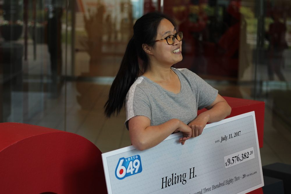 Huang collected her winnings today from the BC Lottery Corporation (Chandler Walter/Daily Hive)