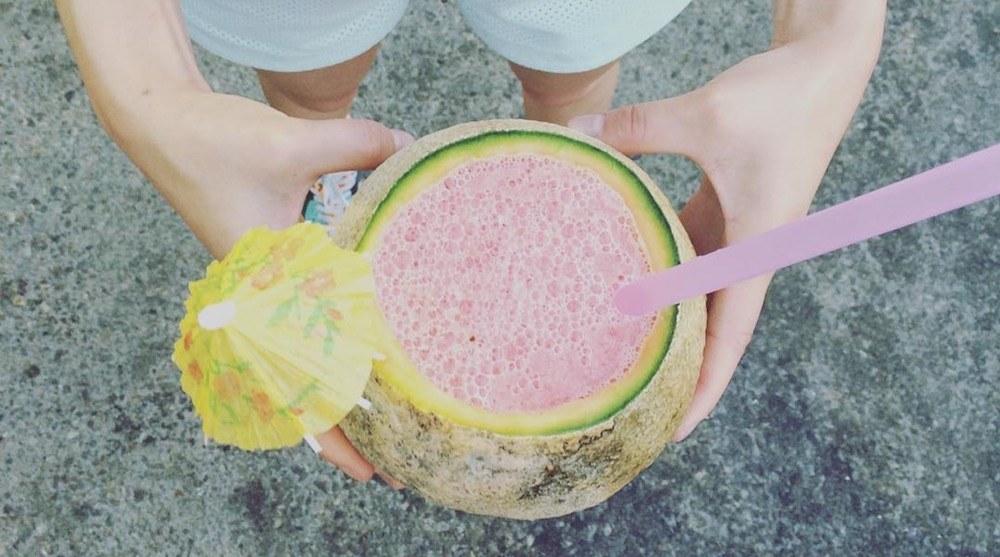 Fruit juice stampede