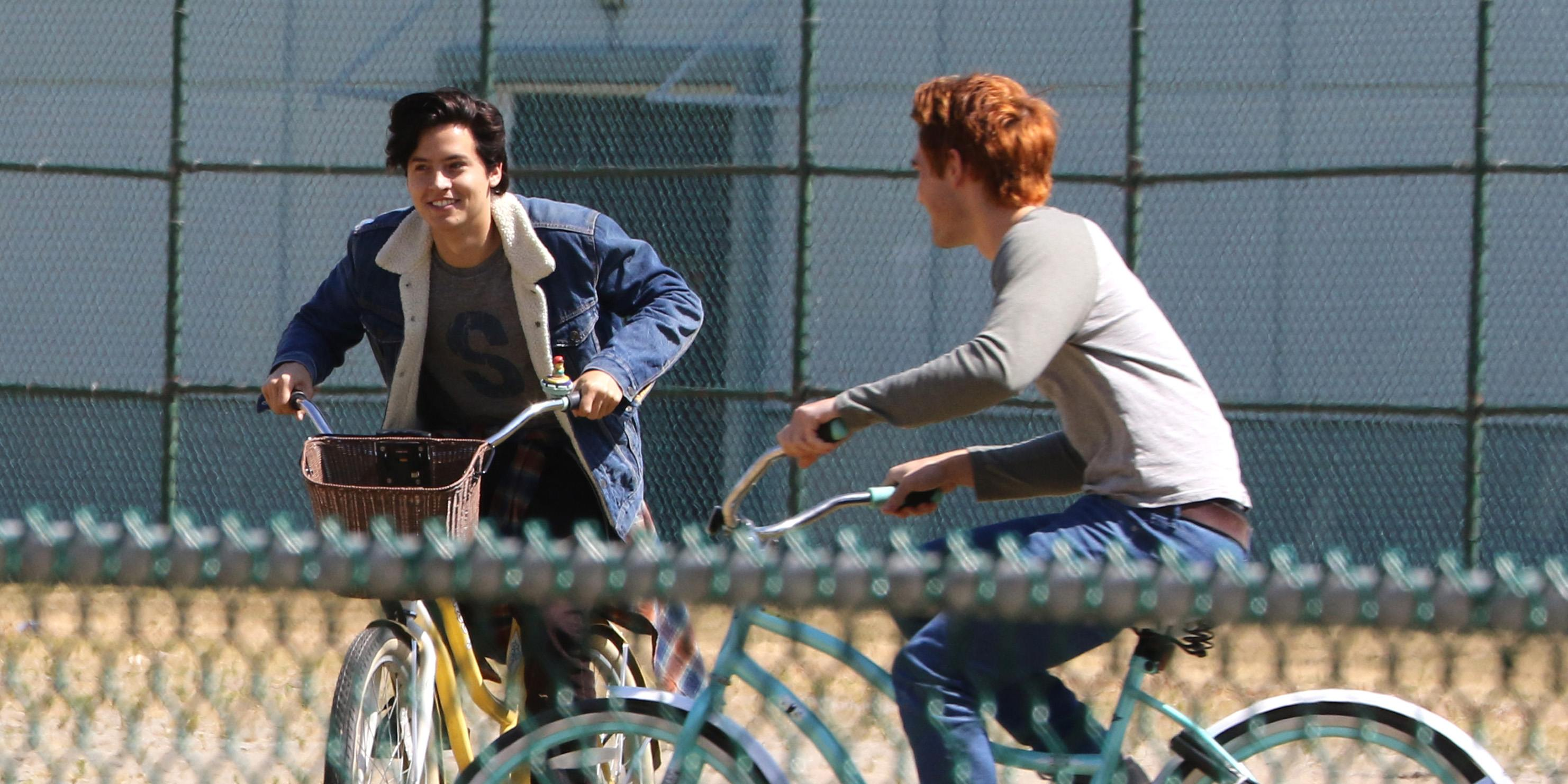 Cole Sprouse and KJ Apa fool around on 'Riverdale' set (PHOTOS)