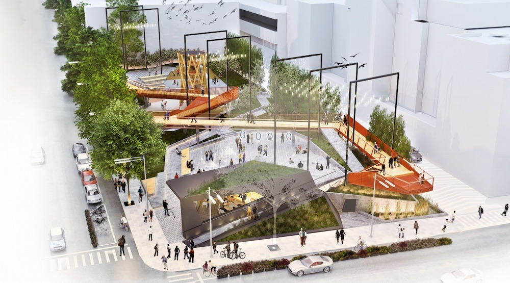 Downtown's newest park will have its own hammocks!