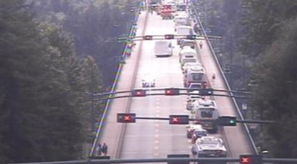 Lions Gate Bridge closed to all traffic after accident