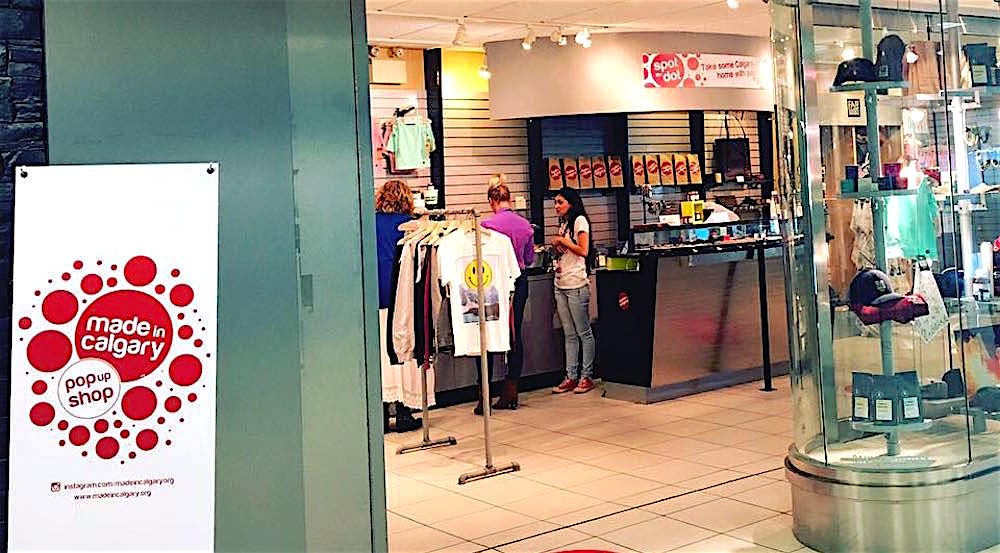 Made in Calgary shop pops up at YYC Calgary International Airport