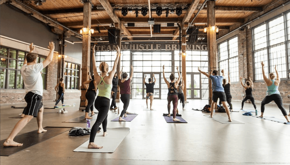 You can do yoga at a brewery in Toronto this month
