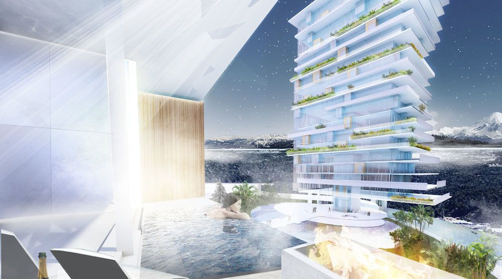 Tropically-inspired mountaintop resort envisioned for Vancouver Island