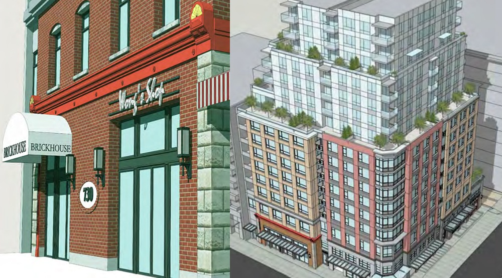 15-storey condo building proposed to replace The Brickhouse in Chinatown