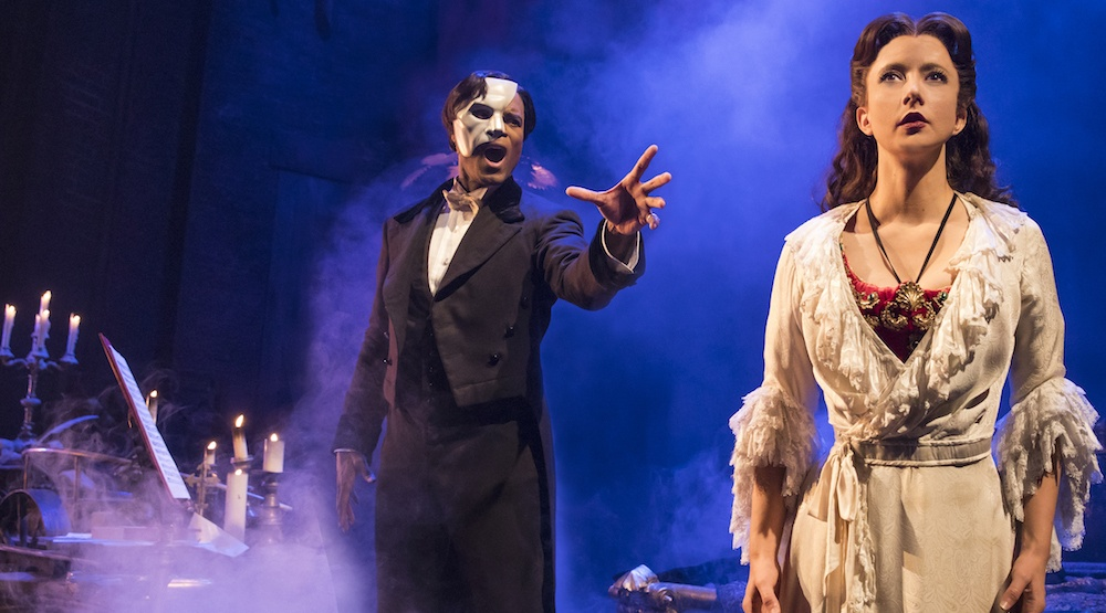 The phantom of the opera 1 derrick davis and katie travis photo matthew murphy
