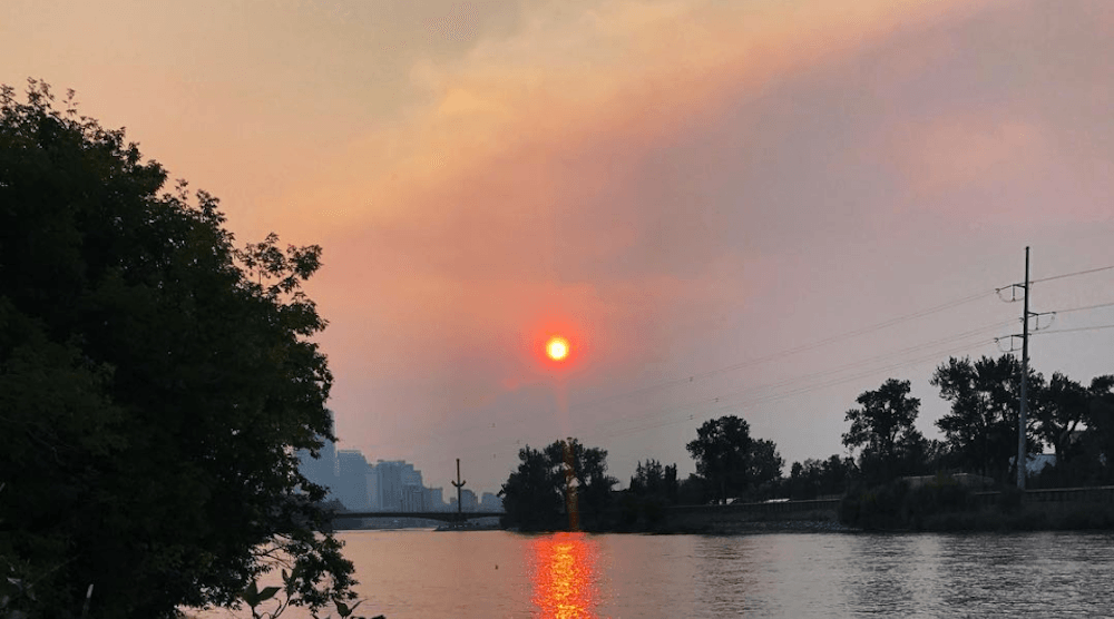 Red sun: Air quality advisory issued for Calgary