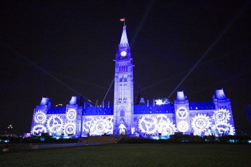 Sound and Light Show on Parliament Hill/ flikr