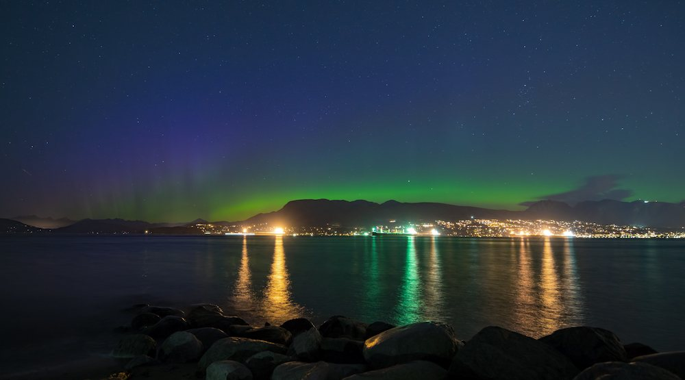 Northern lights over vancouver copy