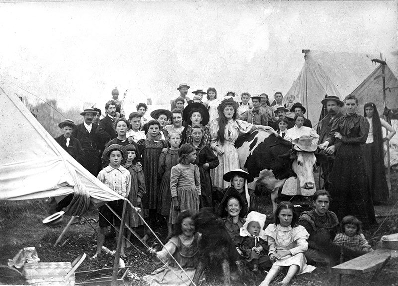 Group from Mt Pleasant at Greer's Beach, 1896. City of Vancouver Archives #Be P98.