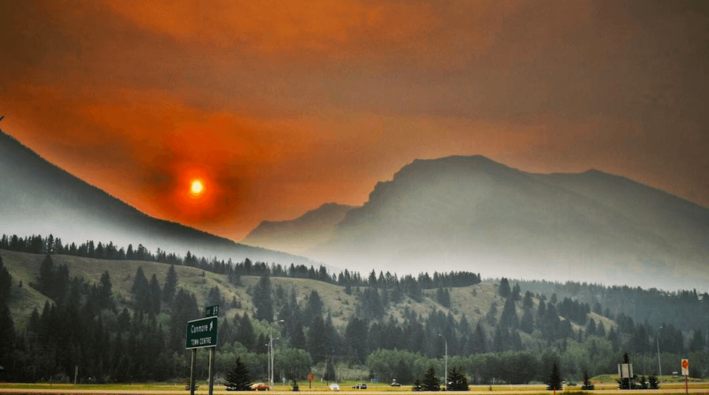 Alberta Government issues air quality warning due to BC wildfires