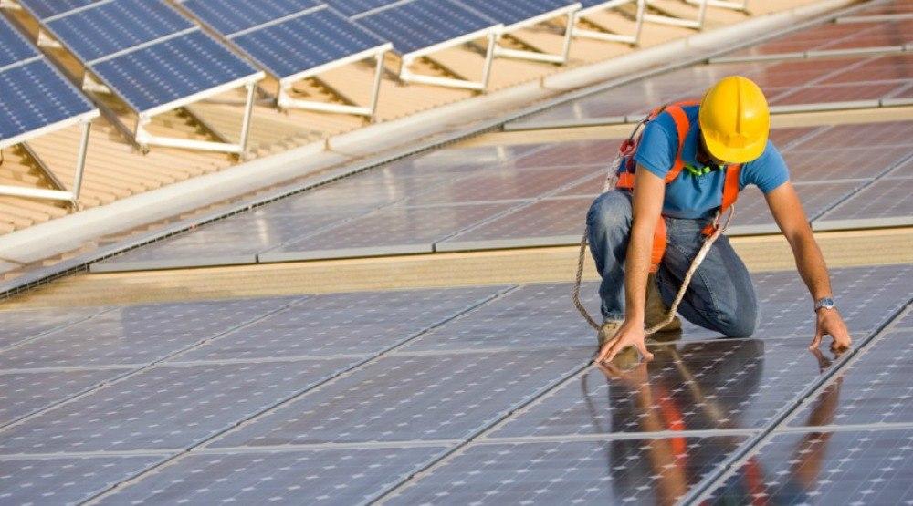 Solar panel installationistock